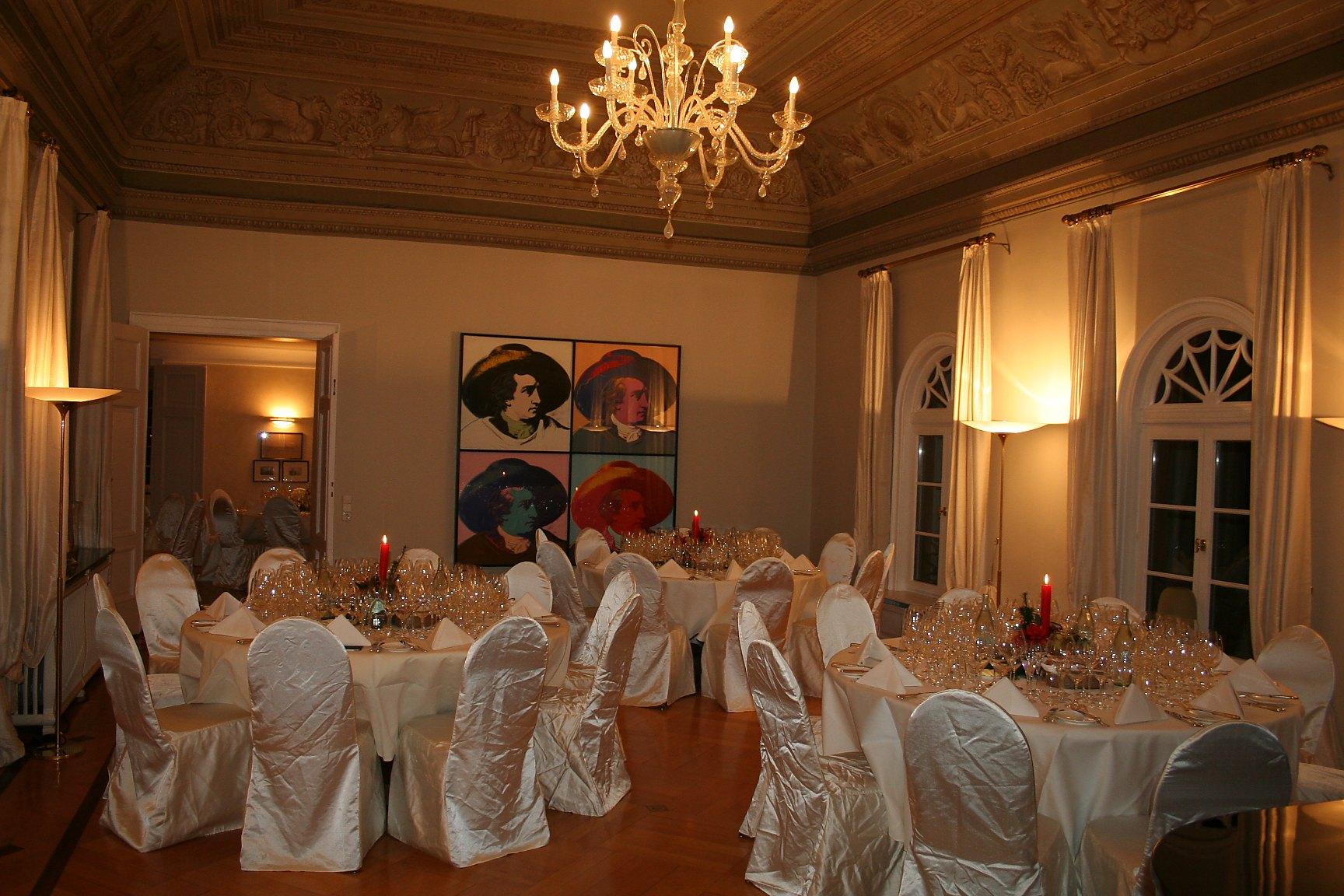 Ein angemessener Rahmen für eine Weinprobe des Collegium Vini - Villa Mumm, Eltville